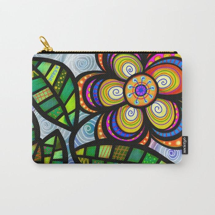 feuilles et fleurs motif 5 Carry-All Pouch