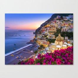 Positano Amalfi Coast Canvas Print