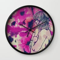 fringe Wall Clocks featuring Fringe by Annaleigh Louise