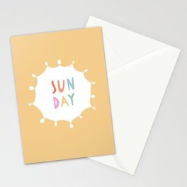 Sunday in Yellow Stationery Cards