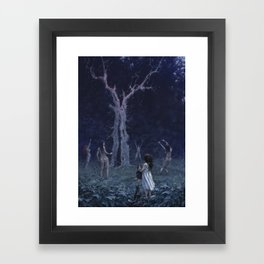 What are you doing, Mommy? Framed Art Print