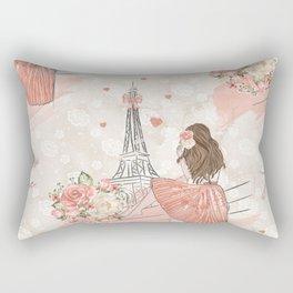Oh La La Paris Girl Rectangular Pillow