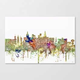 Las Vegas, Nevada Skyline - Faded Glory Canvas Print