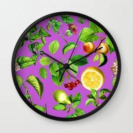 Floral Garden Design Patterns Wall Clock