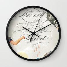 L.W.T.U.A (Love will tear us apart) Wall Clock