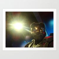 master chief Art Prints featuring Master Chief by Yajaira Gomez