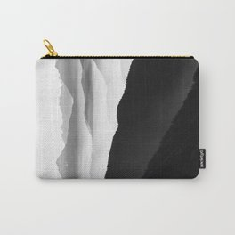 Creamy Mountains | Black & White Carry-All Pouch