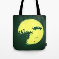 zombie Tote Bags featuring Zombie Invasion by Picomodi