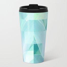 Soft Geo Agave - Aqua and blue Travel Mug
