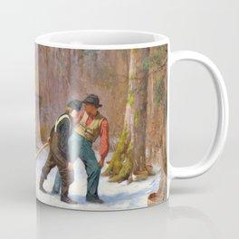On Their Way To Camp - Eastman Johnson Coffee Mug
