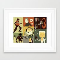 metal gear solid Framed Art Prints featuring Metal Gear Solid: Snake Eaters by Judge Bockman