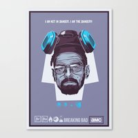 breaking bad Canvas Prints featuring BREAKING BAD by Mike Wrobel