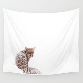 A Fox Fantasy (Red Fox in the snow)  Wall Tapestry