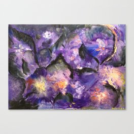 Flowers and mountains Canvas Print