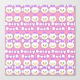 Daisy Tsum Tsum Pattern Canvas Print