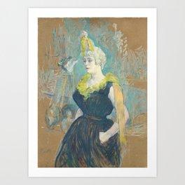 "Henri de Toulouse-Lautrec ""La Clownesse Cha-U-Kao"" Art Print"