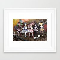 madoka Framed Art Prints featuring Madoka by drawn4fans