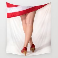 legs Wall Tapestries featuring American Legs by Captive Images Photography
