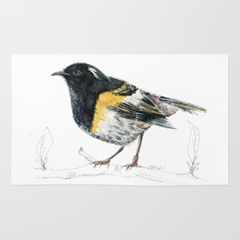 Hihi, New Zealand native Stitchbird Rug