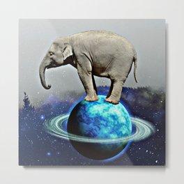Elephant on the moon Metal Print