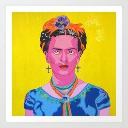 Frida and her spirits Art Print