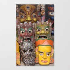 Nepali Masks Canvas Print