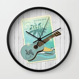 Life is better with an ukulele Wall Clock