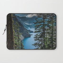 Blue Crater Lake Oregon in Summer Laptop Sleeve