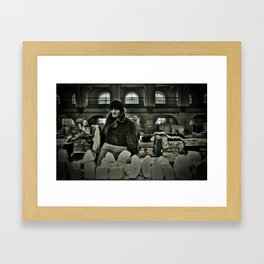 Cheese Seller Framed Art Print