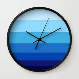 Colorful Blue Gradient Geometric Pattern Wall Clock