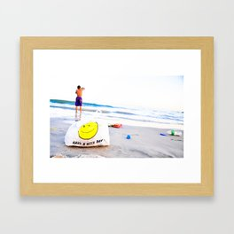 have a nice day. coney island, 2010. Framed Art Print