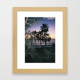 Palms Staring Framed Art Print