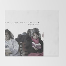 """""""A word after a word after a word is power.""""   Throw Blanket"""