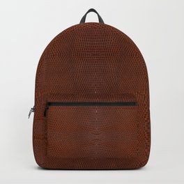 Burnt Orange Leather Backpack