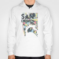 san diego Hoodies featuring San Diego by Studio Tesouro