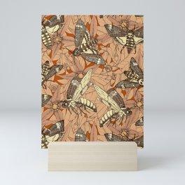 Death's-head hawkmoth rust Mini Art Print