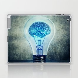lightbulb brain shining Laptop & iPad Skin