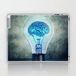 lightbulb brain shining Laptop & iPad Skin