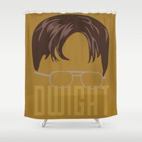 dwight Shower Curtains featuring Dwight and you by Ally Simmons