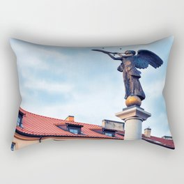 Angel statue in Uzupis district in Vilnius Rectangular Pillow