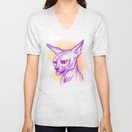 Sphynx cat #02 Unisex V-Neck