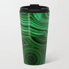 GREEN MALACHITE STONE PATTERN Metal Travel Mug