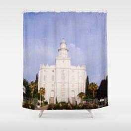 Saint George Utah LDS Temple Shower Curtain