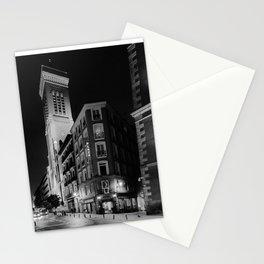 Madrid Hotel at Night BW Stationery Cards