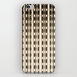 Wavy Verticals Neutral iPhone Skin