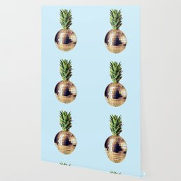 Ananas party (pineapple) blue version Wallpaper
