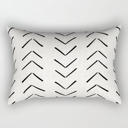 Mud Cloth Big Arrows in Cream Rectangular Pillow