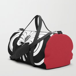 Black And White Abstract Piano Duffle Bag