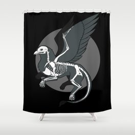 The Skeleton Of A Griffin Shower Curtain