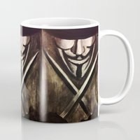 vendetta Mugs featuring VENDETTA by The Traveling Catburys